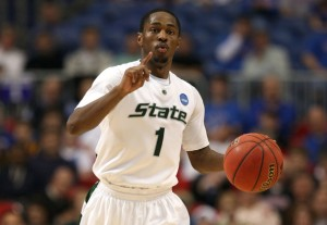 In just his second year at Michigan State, point guard Kalin Lucas has the Spartans one win away from a title.