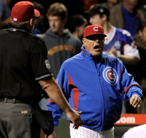 Lou Piniella probably should have done more managing than arguing last night.